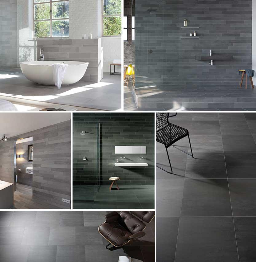 Keuken Antraciet Mat : Badkamer Grijs: In the mood voor keukens tegels. Antraciet beton g