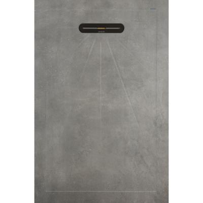 Vtwonen Tegels By Douglas & Jones Mold Douchetegel Basalt 90x135 cm.
